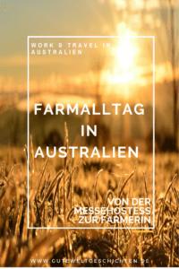 """Während meiner Zeit als Farmerin in Australien durfte ich Sachen lernen und erleben, die sonst fern ab meines Alltags waren. Ich hatte Spinnen- und Schlangenbegegnungen, war der sogenannte """"Läufer"""" bei der Schafschur, lebte im Wohnwagen und fand mich auf einmal in der Rolle der Schweinetrainerin. Erfahre mehr über meinen tollen Alltag als Farmerin."""